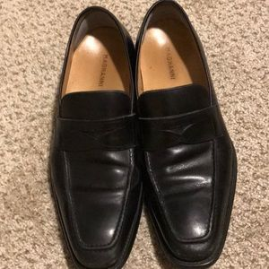 Means Magnanni black casual slip on shoes